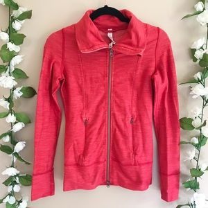 Lululemon Daily Yoga Jacket—Slub Denim Love Red